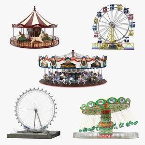 Amusement Park Rides Collection 3 3D