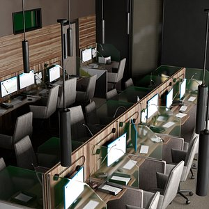 3D Call Center Interior