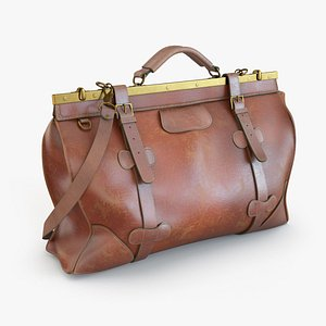 3D leather travel bag