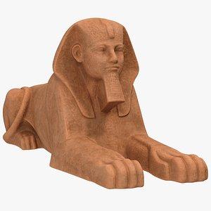 3D sphinx statue