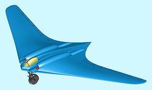 3D model Horten Flying Wing Solid Assembly Model