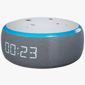 3D Smart Mini Speaker Amazon Echo Dot Generation 3 White Skin model