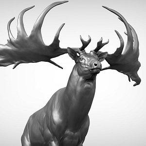 3D Irish elk Megaloceros giganteus model