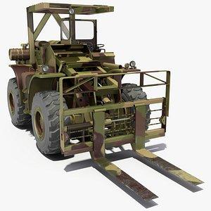 Pettibone Rough Terrain Camouflage Military Forklift 3D model