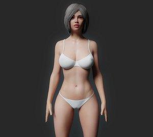 3D Rigged Cartoon Woman 3D model