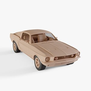 3D 1967 Ford Mustang GT