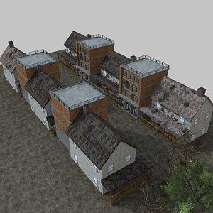 3D Abandoned Village model