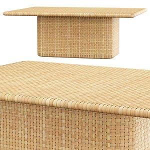 3D model monica rattan table