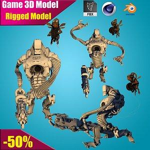 3D model robot ninja