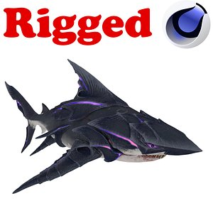 3D Stealth Body Shark Rigged
