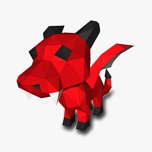 3D DRAGON LOW POLY  3D Papercraf