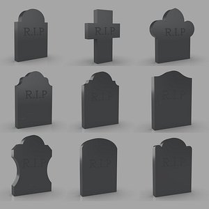 Tombstone are a set of nine models 3D
