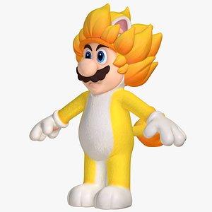 3D Giga Cat Mario Fury Super Mario Assets 8K model