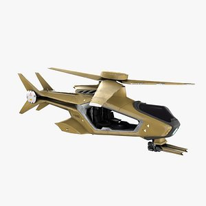 futuristic helicopter copter 3D model