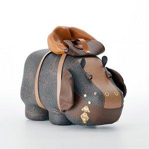 3D Hippo backpack model