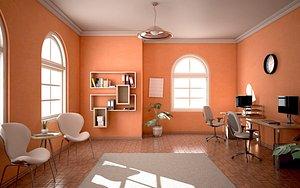 3D Office Corner model
