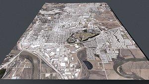 Cityscape  Saint Louis Missouri USA 3D model