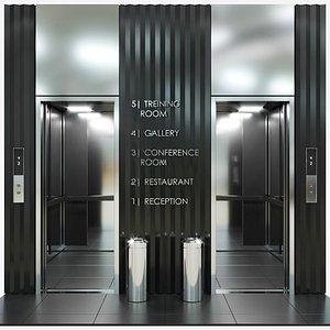 3D passenger elevator model