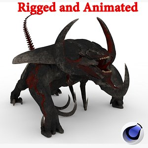 3D Typhon Rigged and Animated model