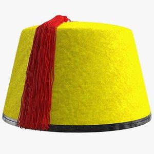 traditional arabic yellow fez model