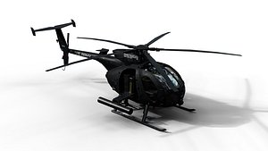3D AH-6 Little Bird