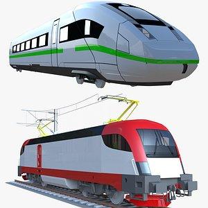 3D Siemens Taurus and ICE locomotives model