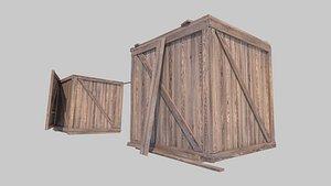 3D model wood box20210903