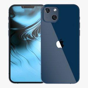 Apple iPhone 13 Blue 3D model