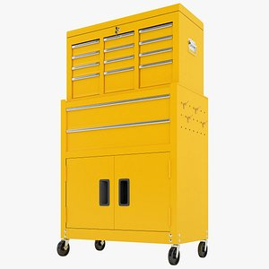 Tool Box Trolley Storage Garage 04 3D