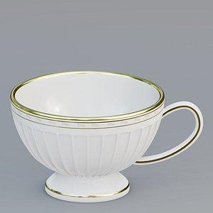 Fluted teacup 3D model