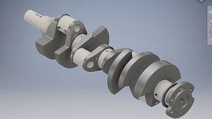3D engine crankshaft