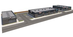 3D retail store model