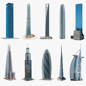 Skyscrapers Collection 8 3D