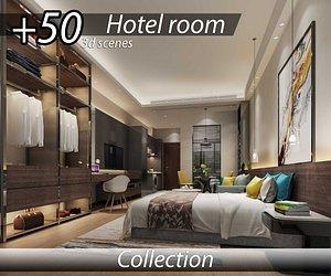 3D Modern hotel room interior 3d scene