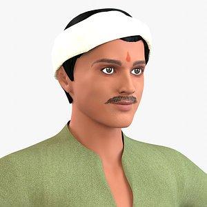 Indian Villager Sudhir 3D model