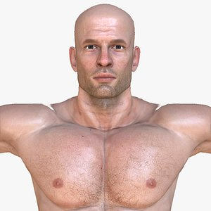 man people character 3D model