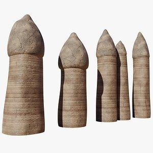 Fairy chimneys 3D model