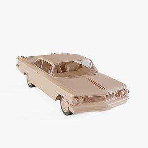 3D 1960 Pontiac Ventura