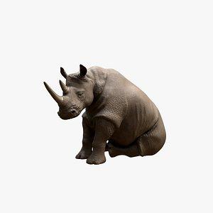 Sitting Rhino 3D model
