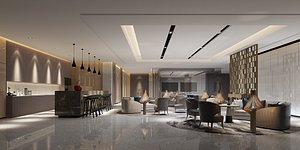 3D reception center interiors