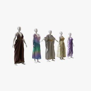 3D Elvs Goddess Dress Pack 1