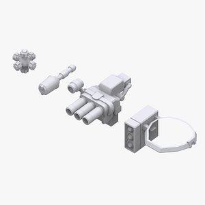 gundam zeon weapon 3D