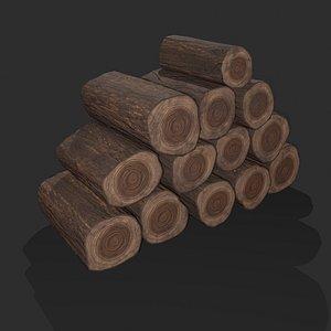3D Wood Stack Logs