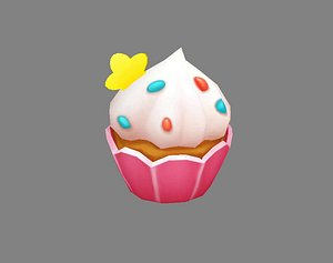 Cartoon cupcake ice cream model