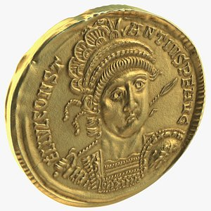 Solidus Roman Imperial Gold Coin model