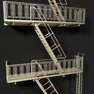 3D escape ladder