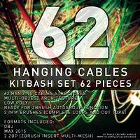 Hanging Cables - 62 Structures Kitbash set