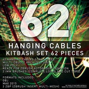 3D cables kitbash set 62 model