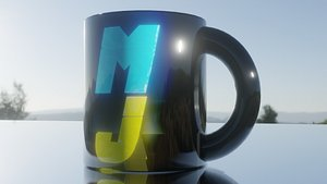 3D coffee-cup cup
