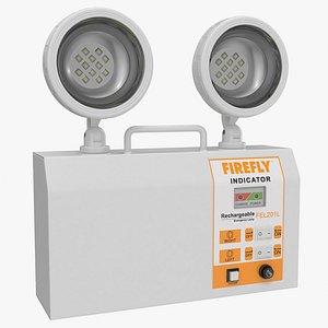 Rechargeable Twin LED Emergency Lamp FIREFLY FEL201L 3D model